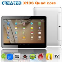 CREATED X10S 10inch phone call tablet pc Free shipping HDMI IPS screen 3G WCDMA/GPS/Bluetoth/ATV/FM/dual camera/dual sim (X10S)