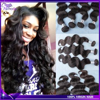 Brazilian Virgin Hair Body Wave 3pcs Color 1b Unprocessed Virgin Human hair weave Brazilian body wave Vip Beauty Hair on sale