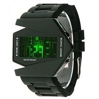 Retail Fashion LED Digital Watches/for Men Women Children/Silicone Belt Aircraft Sports Watche/Bracelet Wrist Watches LED001