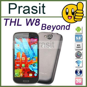 Free shipping THL w9 5 inch IPS Screen THL w8 W8 + MTK6589 Quad core 1.2GHz 1GB RAM 16GB ROM 13.0MP GPS THL W8 W8+ Android Phone