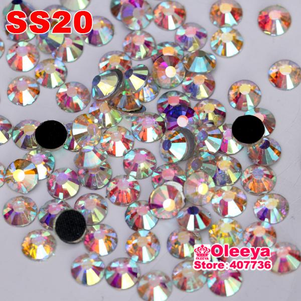 High Quality DMC hotfix rhinestones,color Crystal Clear White AB,Size ss20 (4.8-5.0mm) 1440pcs/bag/lot ,Flat back glue Y0002(China (Mainland))