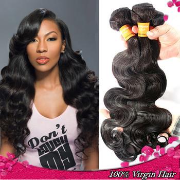 Hot QueenStar hair products Malaysian Virgin Hair Body Wave 3/4pcs100% unprocessed human hair 6A Grade hair weaves Rosa Ms Lula