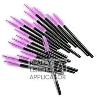 200 pcs Purple Mini Spoolers One-Off Disposable Makeup Mascara Wand Brush Applicator Wholesale Free Shipping Dropshipping RUA PC
