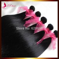 Malaysian Virgin Hair 5 Bundles/lot Hair Extension Weave Beauty Cheap Human Hair Straight  Jet Black #1 Big Discount