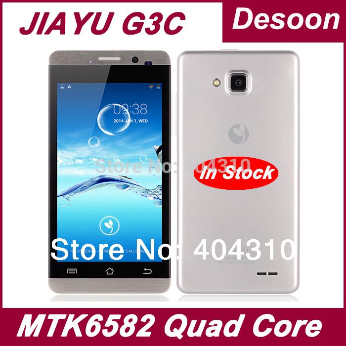 "Original Jiayu G3c G3 G3s Cellphones 1GB RAM 4GB ROM Android 4.2 MTK6582 4.5"" gorilla glass black silver Jiayu Russian language(China (Mainland))"