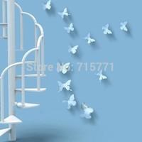 New 30pcs 3D butterflies ebay Hotsale wall stickers art  butterfly decoration DIY sticker wedding decoration home decor