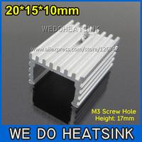 FREE Shipping 10pcs 20x15x10mm Heatsinks Aluminum Radiator Heatsink TO-220/TO220 MOSFET