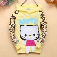 [retail] 2014 autumn baby girls cartoon kitty hoodie kids long sleeve pullover sweatshirts,1502