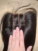Stock Silk Based Hidden nots Silk Top closures Silk Base Closures Medium brown Silk Hair Closure Free Shipping