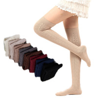 2014 Winter New Striped Knee  Warm Socks Cotton Wholesale Lady Boots Fashoin Womens Sock Free Shipping
