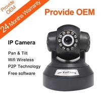 IP Camera P2P Plug and Play Wireless WiFi  PNP Pan & Tilt Lens 3.6mm M-JPEG Built-in Microphone Black KaiCong Sip1605