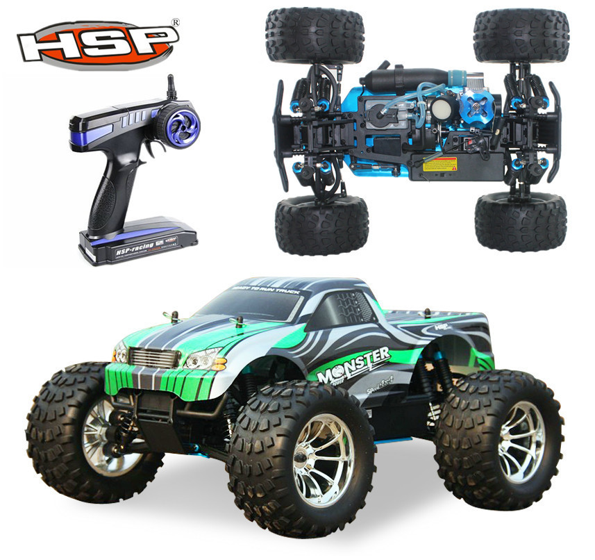 HSP Rc Truck 1/10 4wd Nitro Gas Power Off Road Monster Truck 94188 Remote Control Car High Speed Hobby Remote Control Toys(China (Mainland))