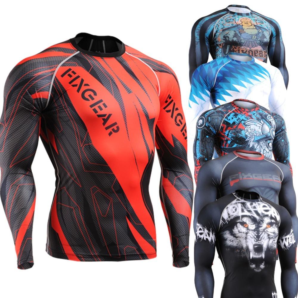 Vendeur top peau de compression shirts, haltérophilie couche de base en cours d'exécution collants, la formation gym fitness body building t- hommes shirt
