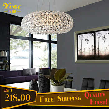 Free Shipping 500MM Caboche Pendant Lamp with Acrylic Material Free R7S Halogen Bulb 200W