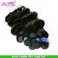 "Low Price Human Hair  indian virgin hair body weave 4pcs/lot(14""-24"" 300g/lot),Berrys Ali Hair New Arrive Beauty hair Extensions"
