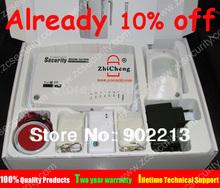 envío gratis de intercomunicación inicio seguridad inalámbrica gsm sistema de alarma 2 años de garantía 900/1800/1900 mhz con ruso, manual de portugués(China (Mainland))