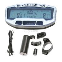 Digital LCD Backlight Bicycle Computer Odometer Bike Meter Speedometer SD558A Clock Stopwatch B16 2659