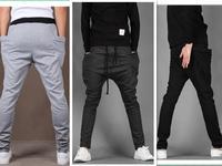 New Mens Cool Harem Pants Casual Sports Pants Trousers 2014 Spring Top Loose pocket design harem sweatpants skinny trousers