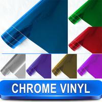 Stretchable Chrome Polished Vinyl Car Wrap Sticker Film / Size 1.52 x 20 Meter Free Shipping / Bubble Free