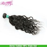 "Brazilian Virgin Hair Natural Wave 6A Berrys Fashion Hair Products 3piece/lot (12""-28"") ,100g/pcs Natuarl Black Unprocessed Hair"