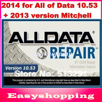 2013 auto repair software for Alldata10.52 and 2013 MITCHELL ONDEMAND10software in 640G hdd with Technical Support ,DHL,EMS Free