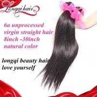 6A Free shipping Peruvian virgin hair straight,4 pcs lot straight Peruvian human hair weaves real unprocessed hair weft LQPST002