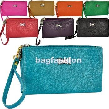 Women's PU leather Wallet  Mobile Phone case Double pull portable purse guangzhou bag organizer 5607 Z