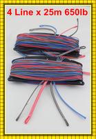 Free Freight Quad Lines 25m 650lb Dyneema Spectra kitesurfing line set manufacturer