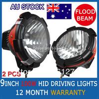 "2PCS 9 INCH 100W  HID XENON Off Road Light  SPOTLIGHTS DRIVING LIGHTS 4WD BAOT TRUCK LAMP FLOOD BEAM 9"" Wholesale"