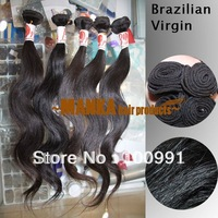 2013NEW! Free Shipping! AAAAA Grade!10-30inch Natural Black 100% Brazilian Virgin Hair Body Wave Unprocessed Human Hair 40g/pc