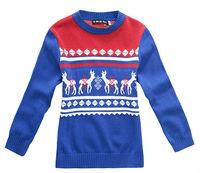 Freeshipping Autumn winter Blue gray Children boy Kids baby cotton jacquard  cardigans sweater outwear clothing top PECB04P03