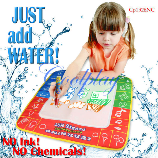 Free shipping CP1326nc 49X48cm Magic Water Doodle Mat &1 Magic Pen/Drawing Board /Water Mat/aquadoodle drawing mat(China (Mainland))