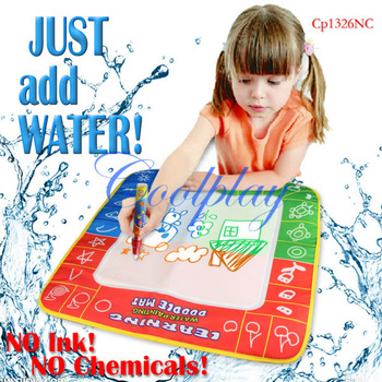 Free shipping  In Stock CP1326nc 49X48cm Magic Water Doodle Mat &1 Magic Pen/Drawing Board /Water Mat/aquadoodle drawing mat