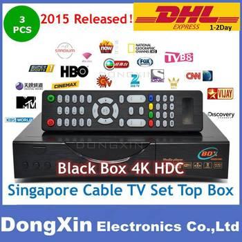 2015 Singapore starhub tv box Blackbox 4K Qbox 4000 Black box hdc-808 watch HD BPL update from hdc608 601 plus cable TV Receiver