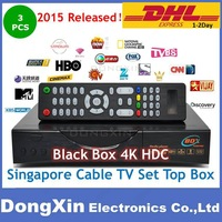 2015 Singapore starhub tv box Blackbox 4K Qbox 4000 Black box hdc-808 watch HD BPL update from hdc608 601 plus cable TV Receiver