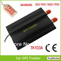 TK103 Vehicle/Car GPS tracker GPS103 Car Alarm Quadband cut off fuel 8 kind language Portuguese PC&web-based GPS tracking system