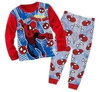 Boy's IRONMAN Long Sleeves Pyjamas Toddler's Mickey Sleepwear Sets Cartoon Home Wear, 6 Sizes (2T-7T)/lot - GPA331/GPA283/GPA985