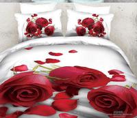 2014 New arrival!100% cotton luxury queen size 3d bed sheet set bedding set /bedclothes duvet cover pillowcase flower