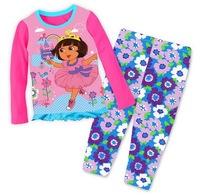 Girl's Cartoon Lycra Nightwear Toddler's Autumn Long-sleeved Sleepwear Sets, 6 Sizes (2T-7T) - GPA310/GPA311/GPA324/GPA328