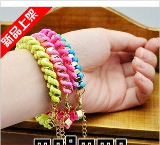 Free shipping new fashion bracelets bangles gold metal chain bracelet bracelets bangles for women alloy bracelet with pendant
