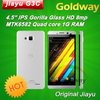 "Original Jiayu G3C Quad core Mobile Phone 4.5"" IPS gorilla glass 1280*720Px screen 1GB RAM 4GB ROM 3G Android 4.2 phone WCDMA"