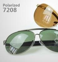 2015 NEW Polarized sunglasses men sunglass Titanium alloy sunglasses 7208 male sunglasses  Free Shipping