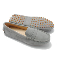 Women Shoes Fashion Loafers Women's Casual Shoes Flat-heel Genuine Leather Moccasins Loafers