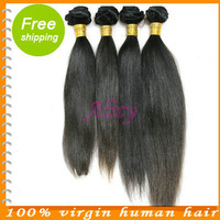 Luvin hair products virgin indian remy straight 100 percent human remi hair pieces 4 bundles lot unprocessed 5a hair weaving
