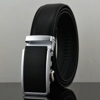 men genuine leather belt automatic buckle belts for men luxury leather  5 styles