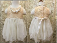 Fashion Girl Summer Lace Rose Dress Kids Clothes Wholesale 5pcs/lot Most Country Free Shipping
