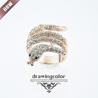 Hot Sale!2013 high fashion snake jewelry 24k plated ring good quality rings for women.