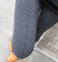 Hot New 2014 Women Leggings Ankle Length Solid Cotton Leggins Knitted Fashion Mid Waist Solid Casual Legging Black Orange Grey