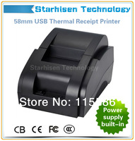 New 100% original USB interface 58mm pos receipt printer thermal printing with power supply built-in hot selling