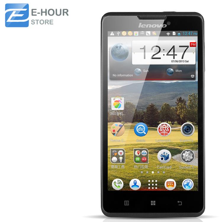 Lenovo P780 Quad core android phones 5 inch HD 1280x720 MTK6589 1.2GHz 1GB RAM 4GB 8.0MP Camera 4000mAh battery(Hong Kong)